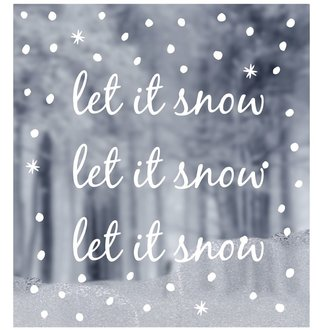 WINDOW STICKERS let it snow