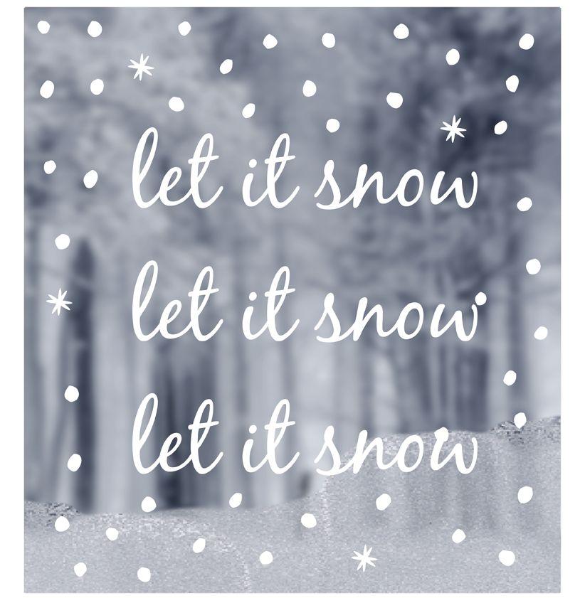 Top WINDOW STICKERS let it snow - DELIGHT DEPARTMENT RK93