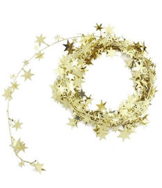 STAR WIRE GARLAND GOLD out of stock