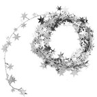 STAR WIRE GARLAND SILVER