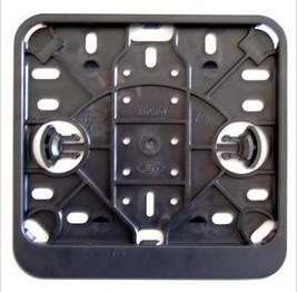Kentekenplaat houder vierkant Zwart