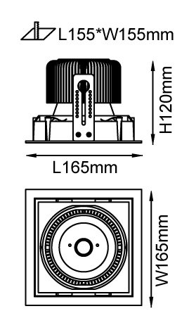 Light4U LED cardanische inbouwspot | Philips Inside | The Click one round