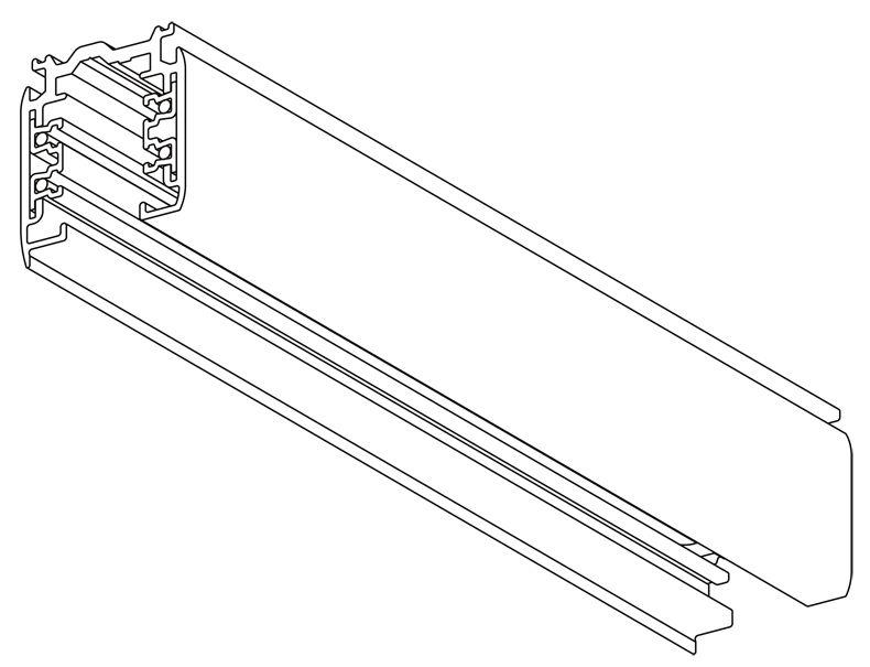NORDIC ALUMINIUM 3-fase spanningsrails opbouw XTS
