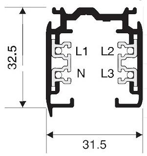 NORDIC ALUMINIUM 3-fase spanningsrails opbouw DALI dimbaar XTSC