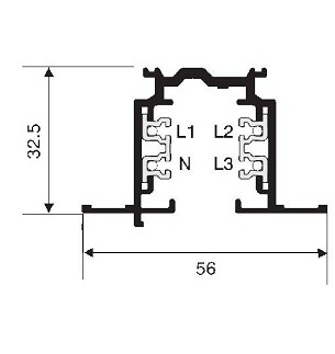 NORDIC ALUMINIUM 3-fase spanningsrails inbouw XTSF