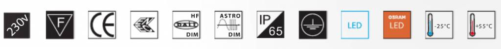 MacBright LV-PA/PO LED 5300Lm 740 55W Astro-DIM Osram Oslon IP65