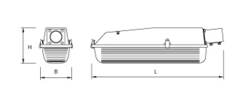 MacBright LVX-PA LED 3200lm 840 ND 32W Incl SRS IP65 IK08