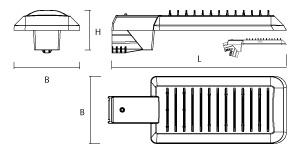 MacBright UL-PA/PO LED 9200lm 750 ND 103W Osram Oslon IP65 IK08