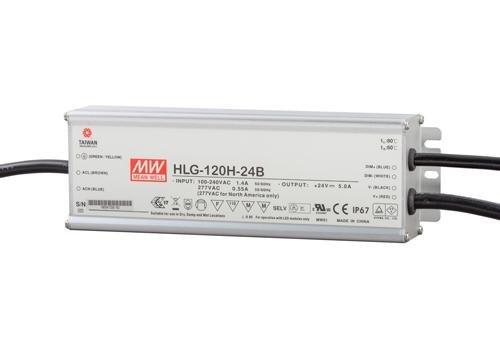 Meanwell LED trafo | 120W | 24V | Dimbaar 1-10V | IP67