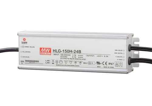 Meanwell LED trafo | 150W | 24V | Dimbaar 1-10V | IP67