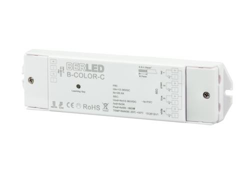 RGBW draadloze controller, 12/24v, 5A per kanaal, max. 240W