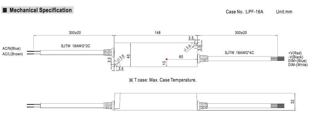 Meanwell LED trafo | 25W | 24V | Dimbaar 1-10V | IP67