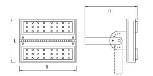 MacBright RX LED Floodlight 21.200Lm 850 IP65 45º Diepstralend