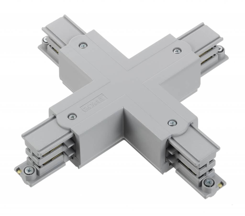 Nordic Aluminium X-koppelstuk 3-fase rails XTSC 638