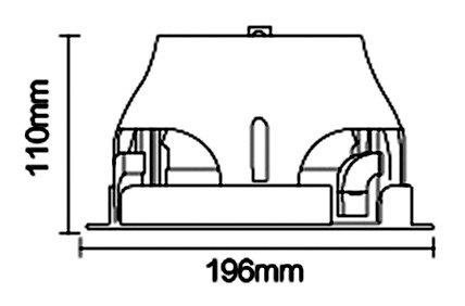 MacBright VENUS 196/110 SLM/Z4 ND GST18/3 IP44 WH
