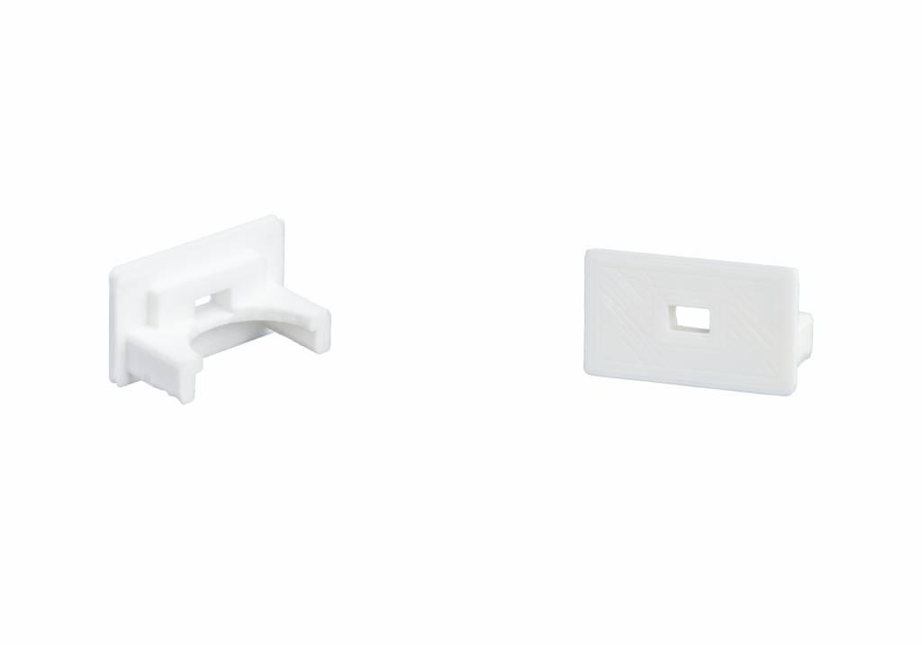 Berla  Eindkap voor U-profiel 18 x 10,5mm met lage cover | Met kabelgat