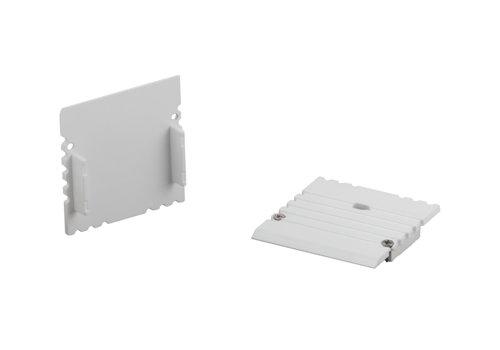 Berla Eindkap voor U-profiel XL | 35 x 35mm | Met kabelgat