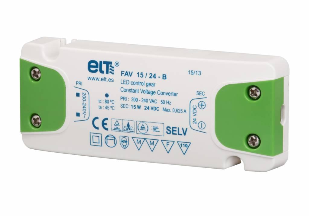 ELT LED trafo | 15W | 24V | IP20