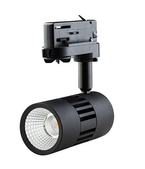 Interlight LED ColourPunch spot zwart 22W 36gr Reflector 3.000K CRI>90
