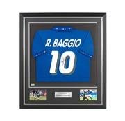 Roberto Baggio gesigneerd Italië WK 1994 shirt in deluxe frame