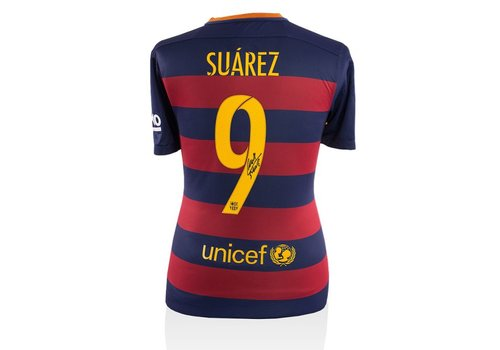 Luis Suárez gesigneerd shirt FC Barcelona 2015-2016