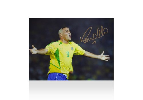 Ronaldo Gesigneerde Brazilië Foto