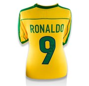 Ronaldo Gesigneerd Brazilië Shirt
