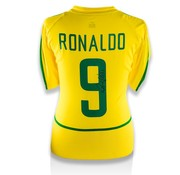 Ronaldo Gesigneerd Brazilië WK 2002 Shirt