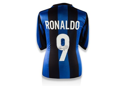 Ronaldo Gesigneerd Internazionale Shirt