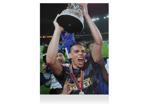Ronaldo Gesigneerde Internazionale Foto