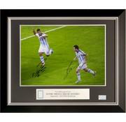 Lionel Messi en Sergio Agüero gesigneerde Argentinië foto