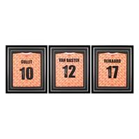 Van Basten, Rijkaard en Gullit gesigneerde Nederland EK'88 shirts in standaard frames