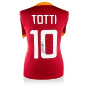 Francesco Totti gesigneerd shirt AS Roma 2011-2012 - thuisshirt