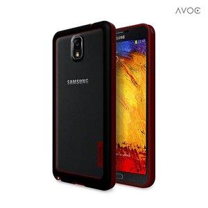 Avoc Galaxy Note 3 Bumper Solid Avoc Zwart / Wijn Rood