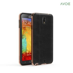 Avoc Galaxy Note 3 Bumper Solid Avoc (Gold Version) - Gold / Black