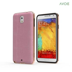 Avoc Galaxy Note 3 Bumper Solid Avoc (Gold Version) - Gold / Pink