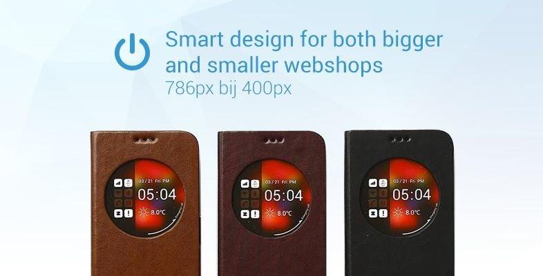 Smart design for both bigger and smaller webshops