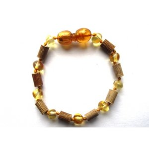 Barnsteen/Hazelaar armbandje - Honing