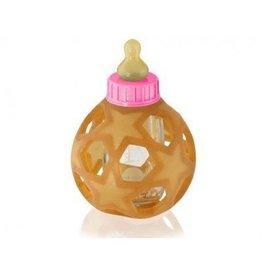Hevea Hevea - Glazen fles met bal roze