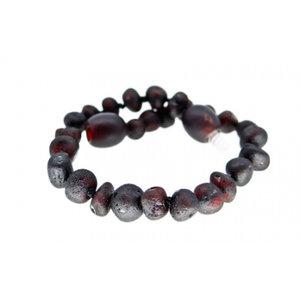 Barnsteenarmbandje - Raw black cherry
