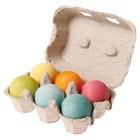 Grimm's - 6 houten ballen pastel