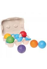 Grimm's Grimm's - 6 houten ballen regenboog