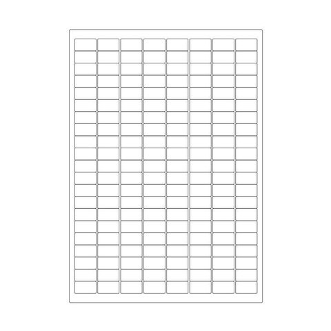 Cryo labels on sheets for laser printers 23mm x 13mm (A4 format)