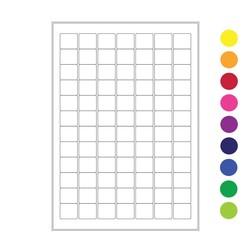 Криогенные лазерные этикетки 25 x 22мм (формат А4)