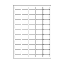 Cryo labels on sheets for laser printers 36 x 14mm (A4 format)