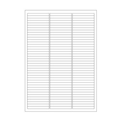 Cryo labels on sheets for laser printers 64 x 7mm (A4 format)