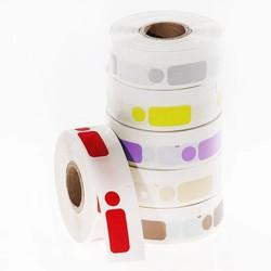 DTermoID ™ - DYMO papier thermique directe compatible étiquettes 26 x 12,7 + 9,5 mm Ø