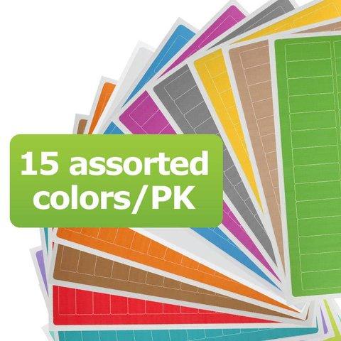 Kryo Beschreibbare Etiketten - 26 x 10mm (Für Mikro-Röhrchen) / Farbig Sortiert