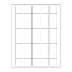 ÉtiquettesCryogéniques Pour Imprimantes Laser - 33 x 33mm (Format US Letter)