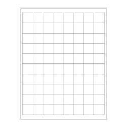 ÉtiquettesCryogéniques Pour Imprimantes Laser - 25,4 x 25,4mm (Format US Letter)